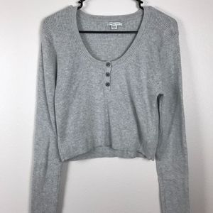 3/$20 AEO Ribbed Cropped Long Sleeve Sweater